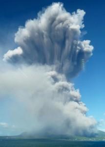 Sakurajima fumée