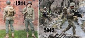 Evolution de l'uniforme américain.