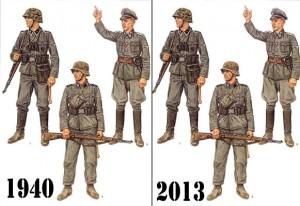 Evolution des uniformes SS.