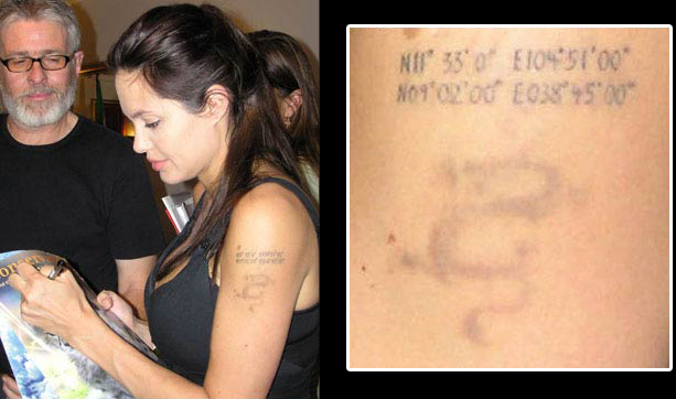 Top Angie's Rainbow : Les tatouages d'Angelina Jolie TO51