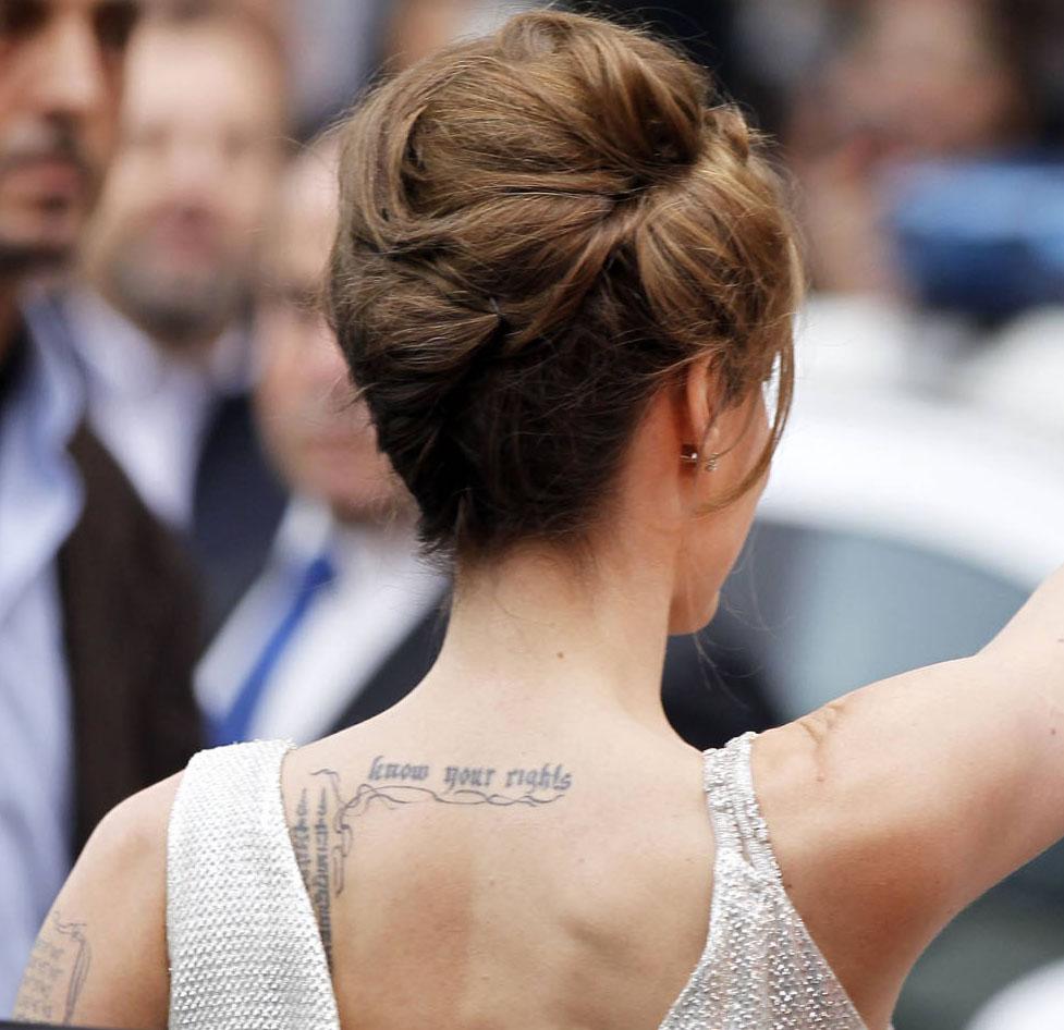 Angie S Rainbow Les Tatouages D Angelina Jolie